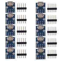 10 pcs mini USB Turn Dip Interface Seat 5V Power Supply Converter Board V4W8