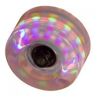 SFR - LA Light Up Flashing Wheels -Grey- Colourful Roller Skate Wheels - 4 Pack