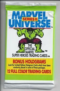 1991 IMPEL Marvel Universe Cards - 2nd Series - ONE (1) Sealed Pack - 12 Cards