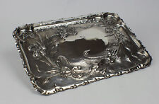 Antique Edwardian Sterling Silver Art Nouveau Table Tray 1902