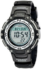 Casio Men's Digital Altimeter Barometer 200m Black Resin Watch SGW100-1
