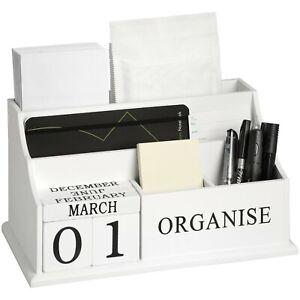 Large White Desk Organiser Letter Rack Holder Storage Racks Home Decoration Gift