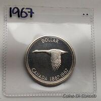 1967 Canada Silver Dollar Coin SPECIMEN UNCIRCULATED 1867 Goose #coinsofcanada