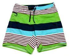 "Patagonia Wavefarer Green Blue Stripe 9.5"" Swim Board Shorts 36"