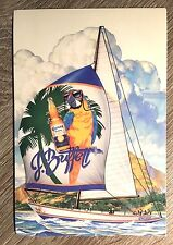 CORONA JIMMY BUFFET 1986 PARROTTHEADS PROMO POSTCARD MAN CAVE UNUSED RARE