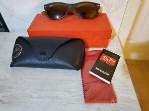 EUC RAY BAN Sunglasses WAYFARER 2132 6179 HAVANA/BROWN 52mm