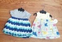 Nordstrom Baby Cotton Printed Dress Set 2 Dresses Infant Baby Size 3 Months NEW