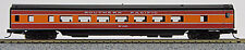 N Smooth Side Passenger Coach Car Southern Pacific (Daylight) (1-40026)