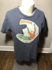 Vintage Aquaman Embroidered Patch T-Shirt Dc Comics Vtg Medium D6