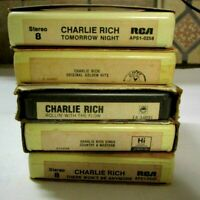 VTG Lot of 5 - 8 Track Tapes UNTESTED AS IS CHARLIE RICH There Won't Be Anymore