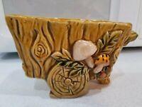 Vintage Ceramic Mushroom Cart Planter 1970 Geo Z Lefton Japan EUC