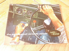 Brochure LAND ROVER serie II : catalogue 24 pages en anglais 1965-1966 ?