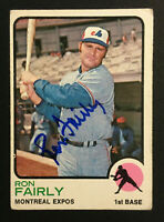 Ron Fairly Expos signed 1973 Topps baseball card #125 Auto Autograph