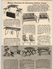 1954 PAPER AD Logan Matched Metal Patio Outdoor Furniture Glider Spring Chair