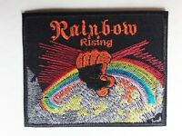 RAINBOW RISING FIST METAL ROCK N ROLL MUSIC BAND EMBROIDERED PATCH UK SELLER