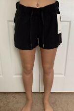 "Lululemon Size 4 On The Fly Short 2.5"" Woven Black BLK Speed Tracker Pace Travel"