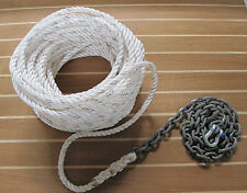 "Anchor Rode  ""Summer Special""   150ft 1/2"" 3 Strand Nylon / 20ft 1/4"" G4 Chain"