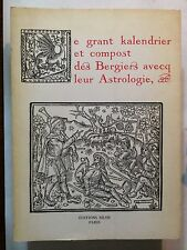 GRANT KALENDRIER BERGERS AVEC ASTROLOGIE 1976 COMPOST BERGIERS