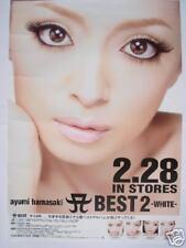 "AYUMI HAMASAKI ""BEST 2 WHITE"" JAPAN PROMO POSTER - Jpop"