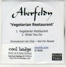 (DD974) Aberfeldy, Vegetarian Restaurant - 2004 DJ CD