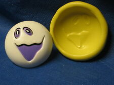 Halloween Ghost 2 Silicone  Push Mold Flexible Clay Candy #223