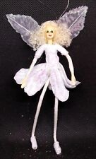 Mini White Flower Fairy Fabric Girl Angel Doll 6 '' Home Decoration