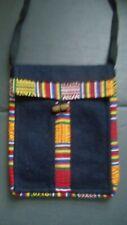 Ethnic Small Bag Fair Trade Passport Black Multi Travel Handy Mens Womens Gift