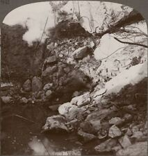The Chalk Pits At Loos, Seized & Held By 2nd Brigade Of Guards - WW1 Stereoview