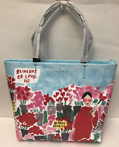 NWT!!kate spade be be mine rose market hallie Tote In Multi