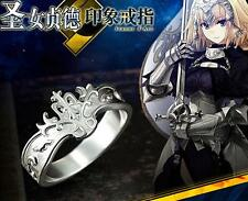 Anime Fate/Grand Order Jeanne d'Arc Ring 925 Silver Saber Cos Gift
