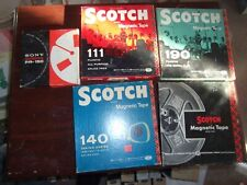 5 SCOTCH  REEL TO REEL RECORDING TAPES USED