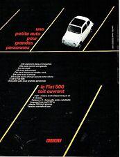 Publicité Advertising 067  1970  la Fiat 500  toit ouvrant