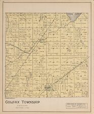1901 Benzie County plat maps Michigan Genealogy history Atlas Land P109