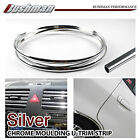 12M 6mm Chrome Silver Moulding U Trim Strip Car Hatchback 4 Doors Kit Protector