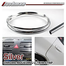 3.5M Chrome Moulding U Style Trim Car Silver Edging Strips Decoration Interior