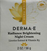 100% NEW AND AUTHENTIC Derma E Radiance Brightening Night Cream 2 oz