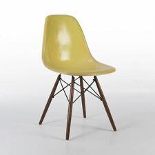 Lemon Yellow Herman Miller Original Vintage Eames DSW Side Shell Chair