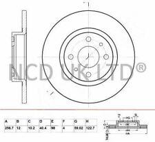 JURATEK FRONT BRAKE DISC FOR FIAT PANDA 1242CCM 69HP 51KW (PETROL)