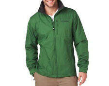 Mens Columbia Jacket Spring Fall Soft Shell Fleece COAT Utilizer Green Large L
