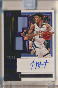 JA MORANT 2019 20 PANINI ONE AND ONE ROOKIE PATCH AUTO 20/35