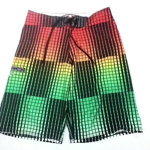Ron Jon Surf Shop  Men's Multicolor Board Shorts Swimwear Swim Trunks Size 27