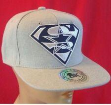 Dallas Cowboys Flat Bill Snapback Ball Cap/Hat Structured Heather Gray Adjustabe
