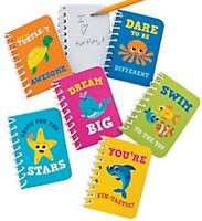 Pack of 6 - Under the Sea Mini Spiral Notepads - Sea Life Party Bag Fillers Gift