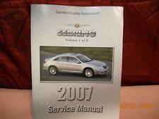 2007 CHRYSLER SEBRING SERVICE SHOP REPAIR MANUAL VOLUME 1 81-270-07055