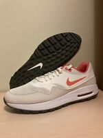 Nike Air Max 1 G Spikeless Golf Shoes Mens Sz 11 Sail Magic Ember CI7576-102 New