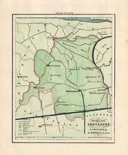 ANTIQUE MAP-HOLLAND-TOWN PLAN-GRIJPSKERK-GRONINGEN-OOMKENS-1862
