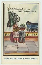 Carriages of All Descriptions When Love Creeps In Your Heart Comic Postcard C050