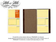 Midori Sticky Notes | Refill Midori 022 | Traveler's Notebook Regular Size