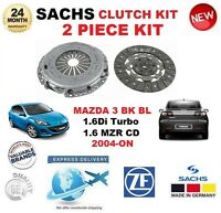 FOR MAZDA 3 1.6 Di Turbo BK 1.6 MZR CD BL 2004-ON SACHS 2 PIECE CLUTCH KIT