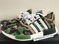 ADIDAS NMD RUNNER R1 BAPE GREEN CAMO US 9 UK 8.5 42.5 43 A BATHING APE 2016 OG